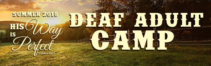 2018 Deaf Adult Camp